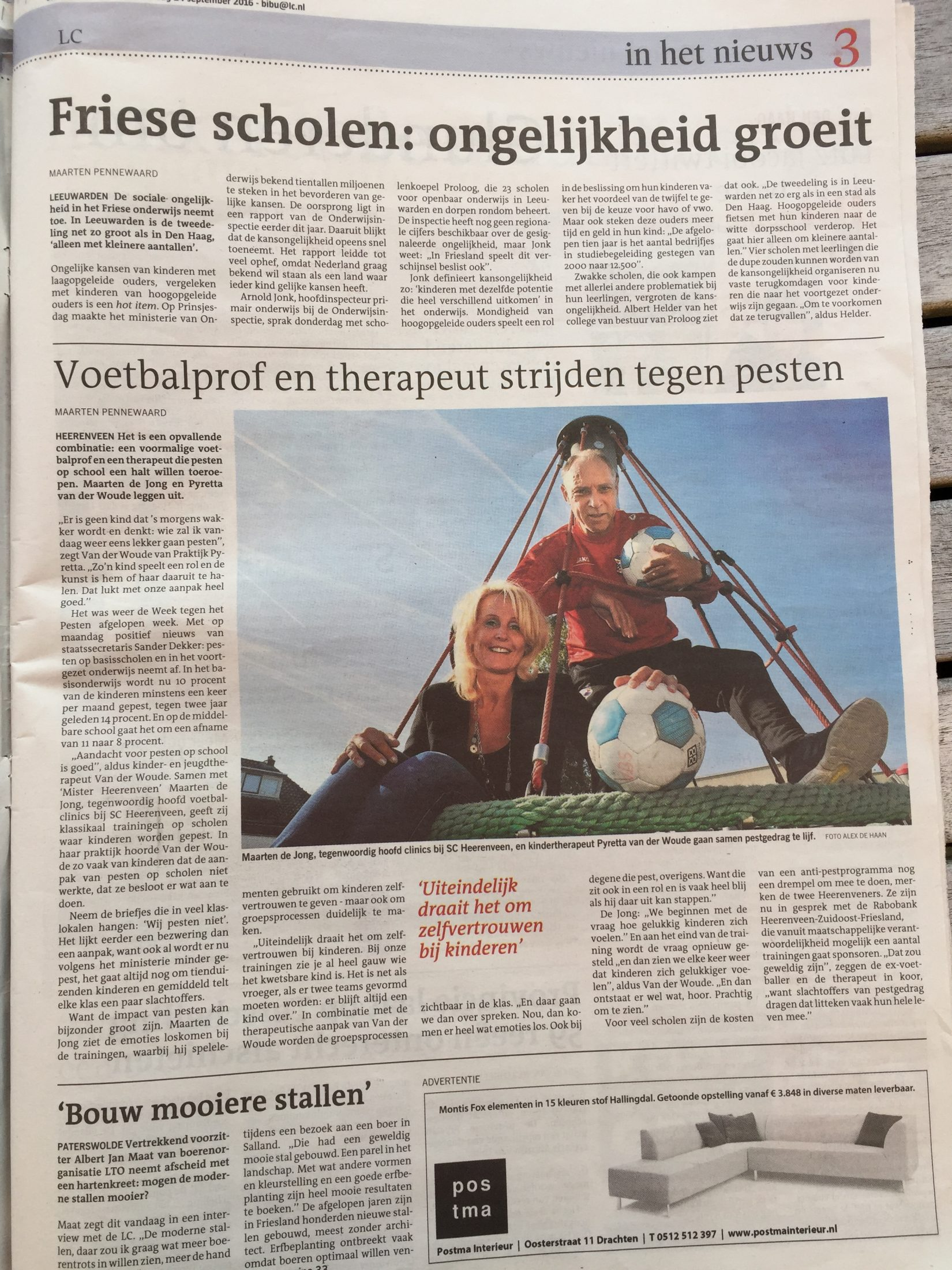 Leeuwarder Courant september 2016 IMG_8829